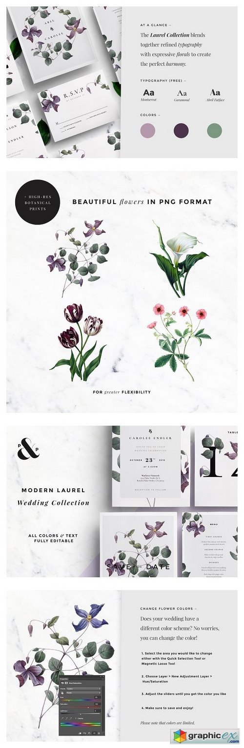 Modern Laurel Wedding Collection