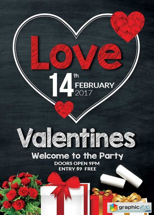 Valentines Party V38 Flyer Template