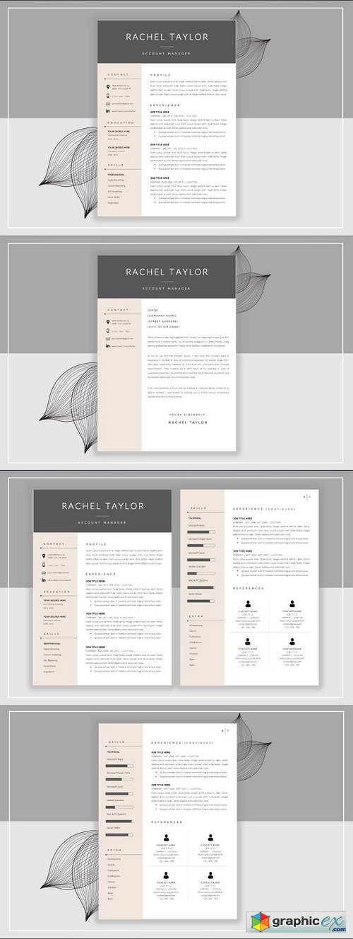 Resume Template & Cover Letter 358565