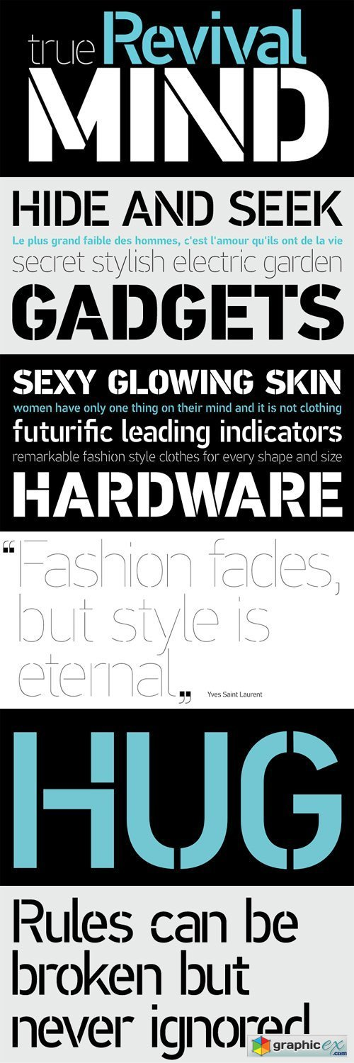 PF Din Stencil Font Family - 8 Fonts for » Free Download