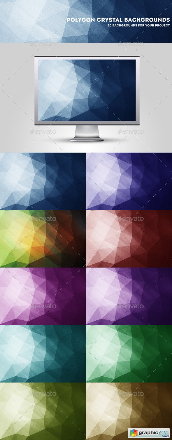 Grunge Polygon Backgrounds