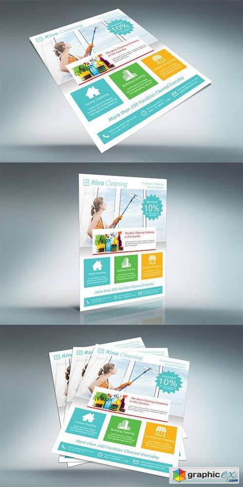 Cleaning Company Flyer - V002