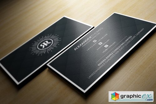 Elegant Black Business Card 1161878