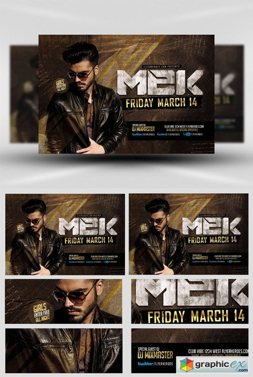 MEK Bar Flyer Template