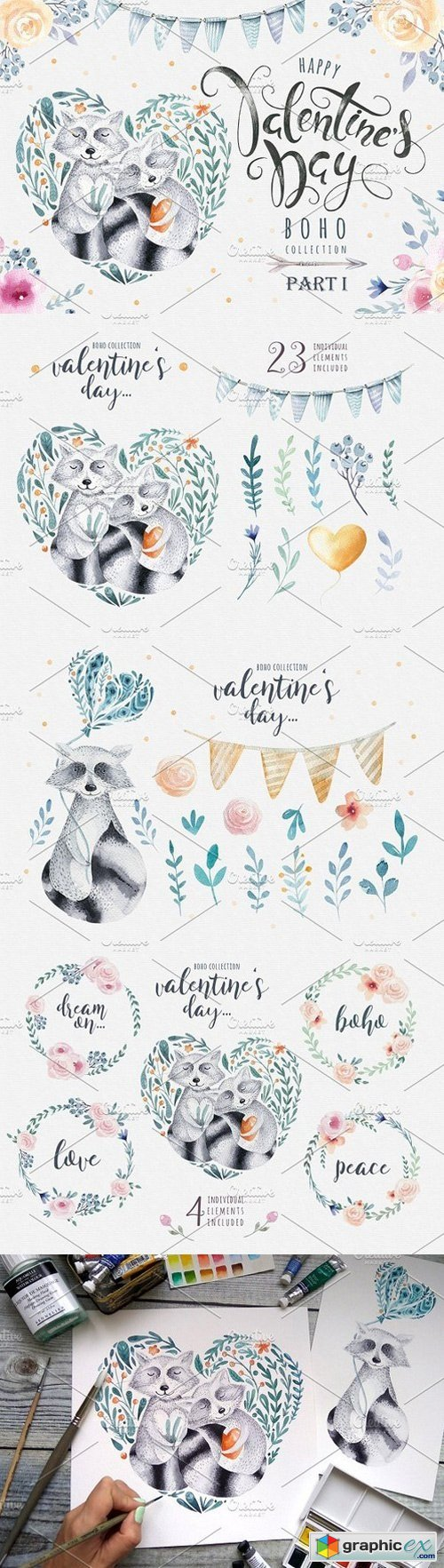 Valentine's Day with raccoons
