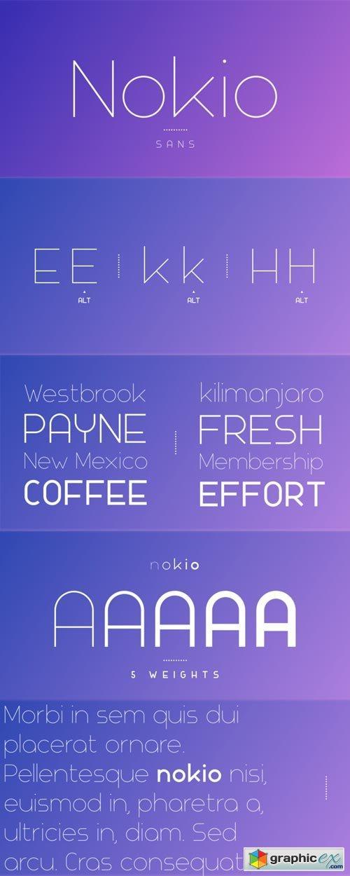 Nokio Sans Font Family » Free Download Vector Stock Image