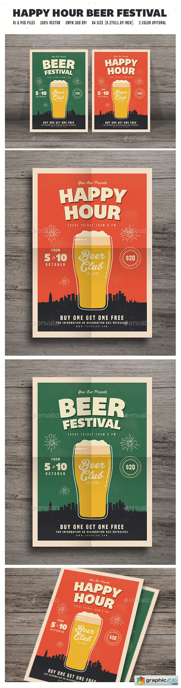 Happy Hour Beer Festival Flyer