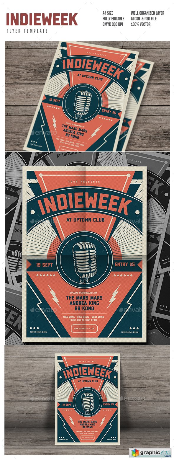 GraphicRiver - Indie Week Flyer 17758604