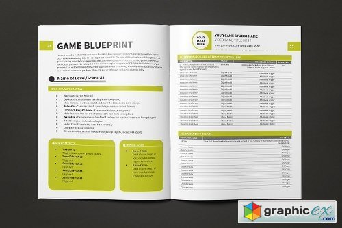 Game Design Document Template Free Download Vector Stock Image - Game design document download