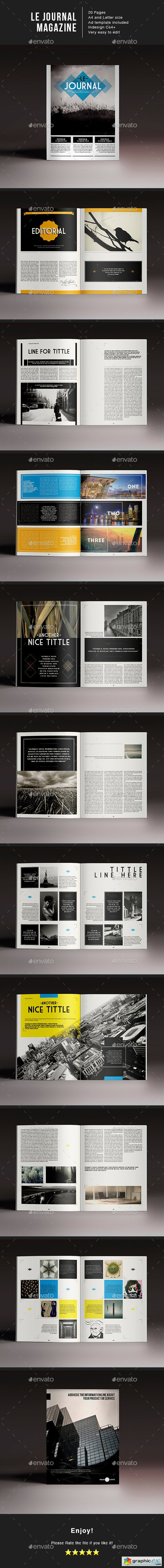 Le journal magazine indesign template free download vector stock image phot - Design journal magazine ...