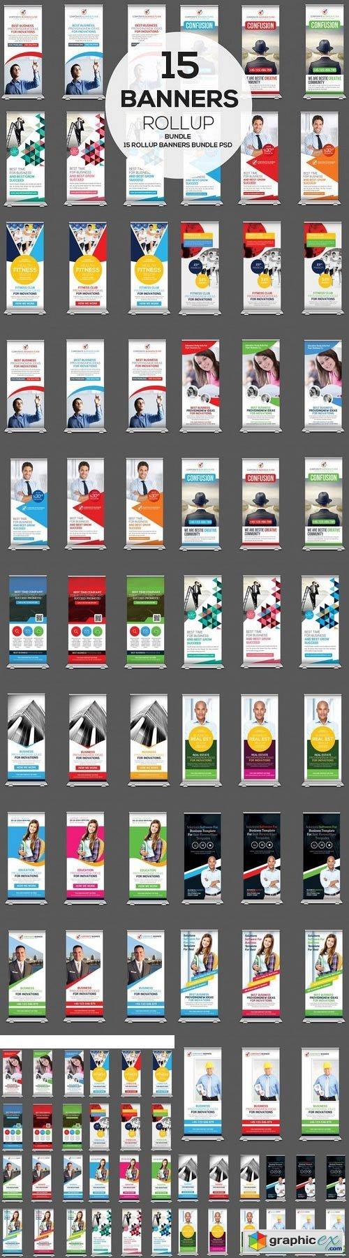 15 Mulipurpose Rollup Banners Bundle