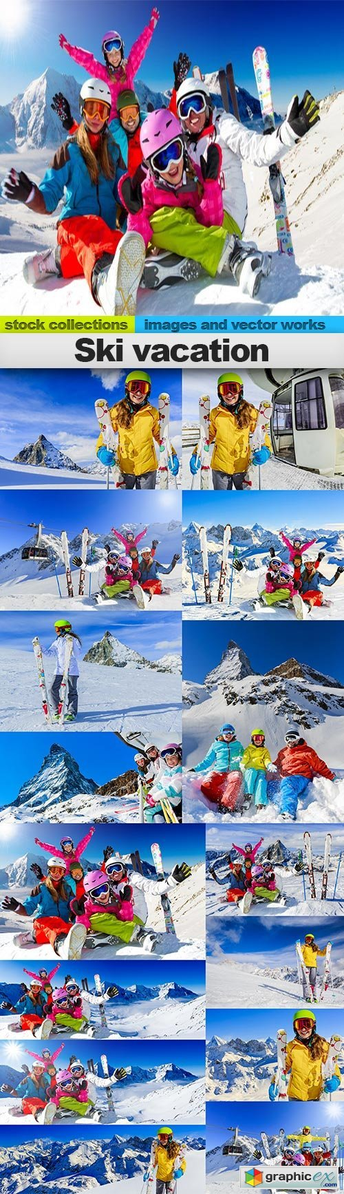 Ski vacation, 15 x UHQ JPEG