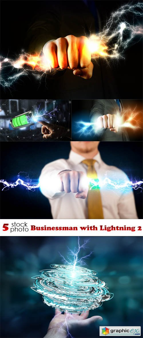 Businessman with Lightning 2