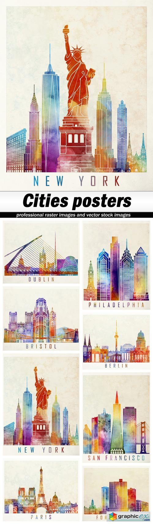 Cities posters - 8 UHQ JPEG
