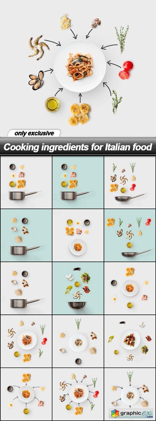 Cooking ingredients for Italian food - 15 UHQ JPEG