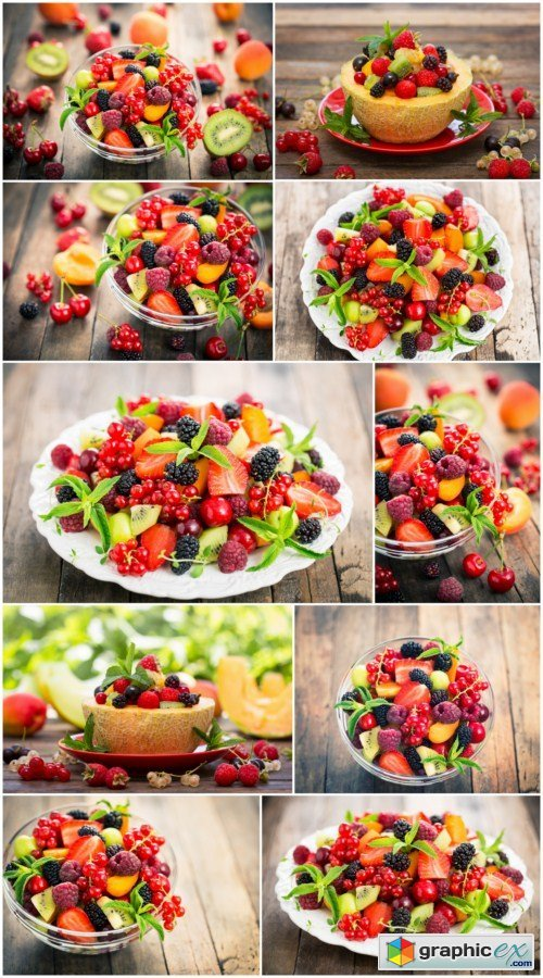 Fresh fruit salad in the bowl 10X JPEG