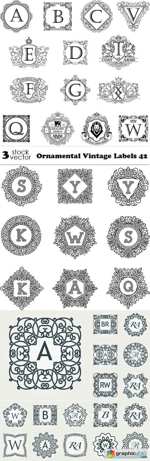 Ornamental Vintage Labels 42