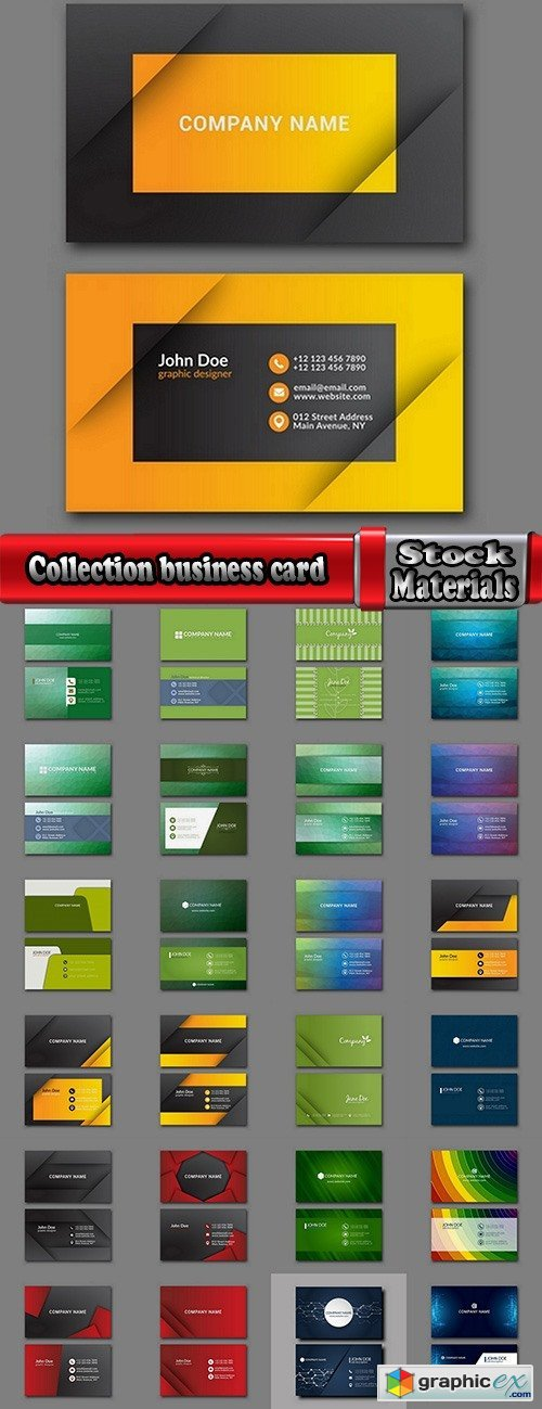 Collection business card flyer banner vector image 9-25 EPS