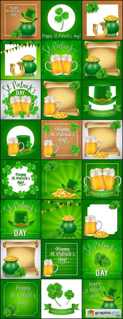 St Patricks Day Can be used for greeting card, leaflets, posters and brochure 24X EPS