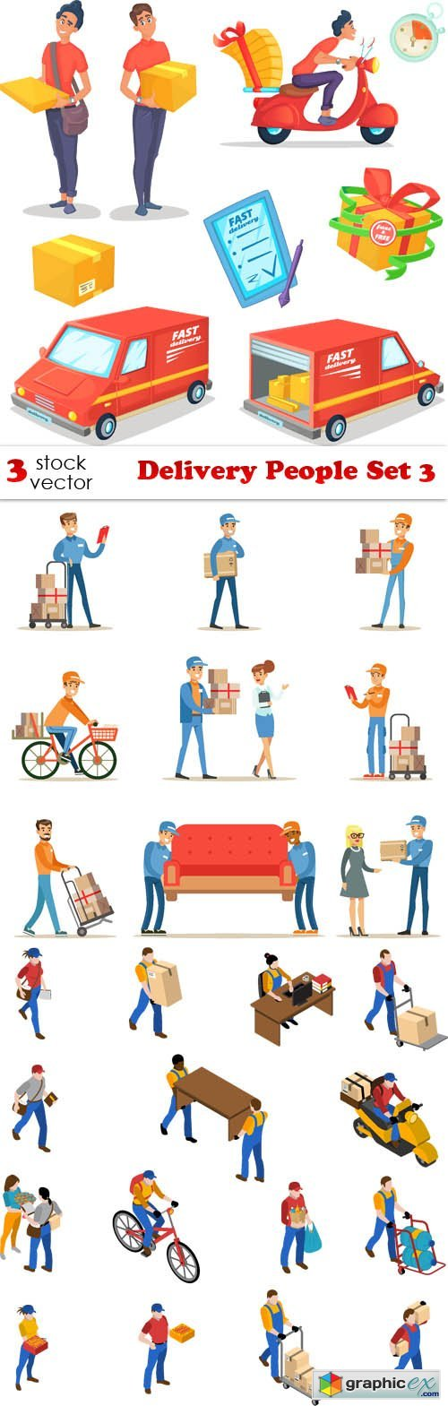 Delivery People Set 3