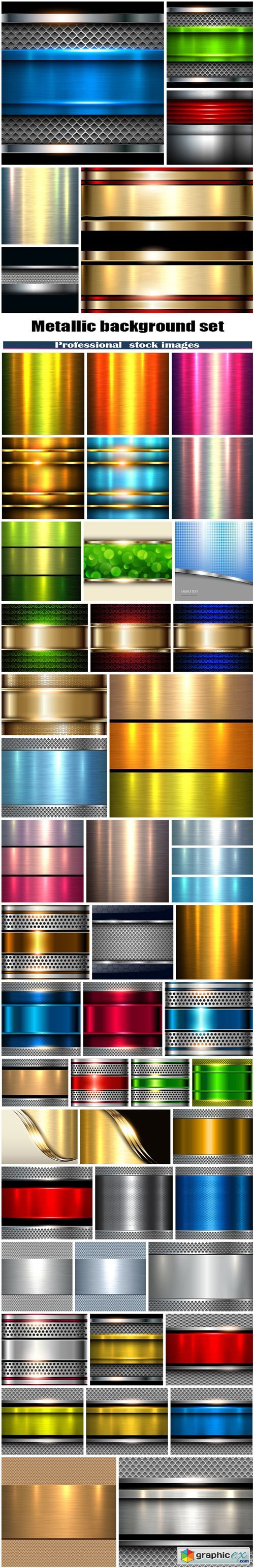 Metallic background set