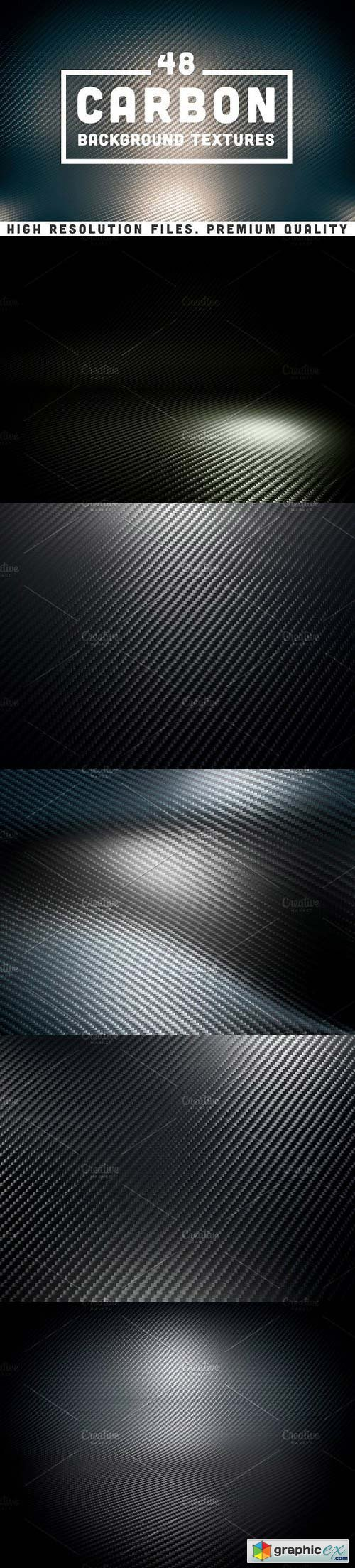 48 Carbon Background Textures