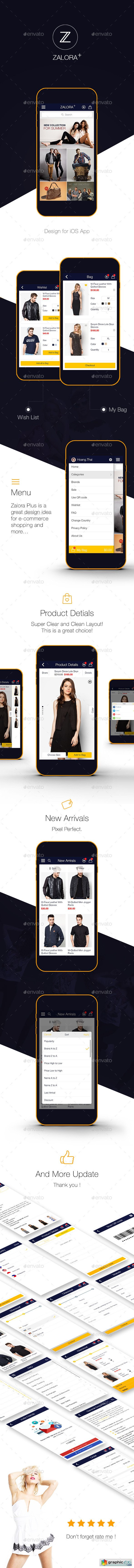 Zalora Plus Shopping UI for e-commerce UI Graphic