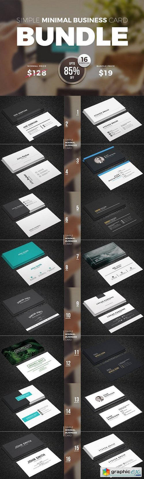 Clean Business Card Bundle 990247
