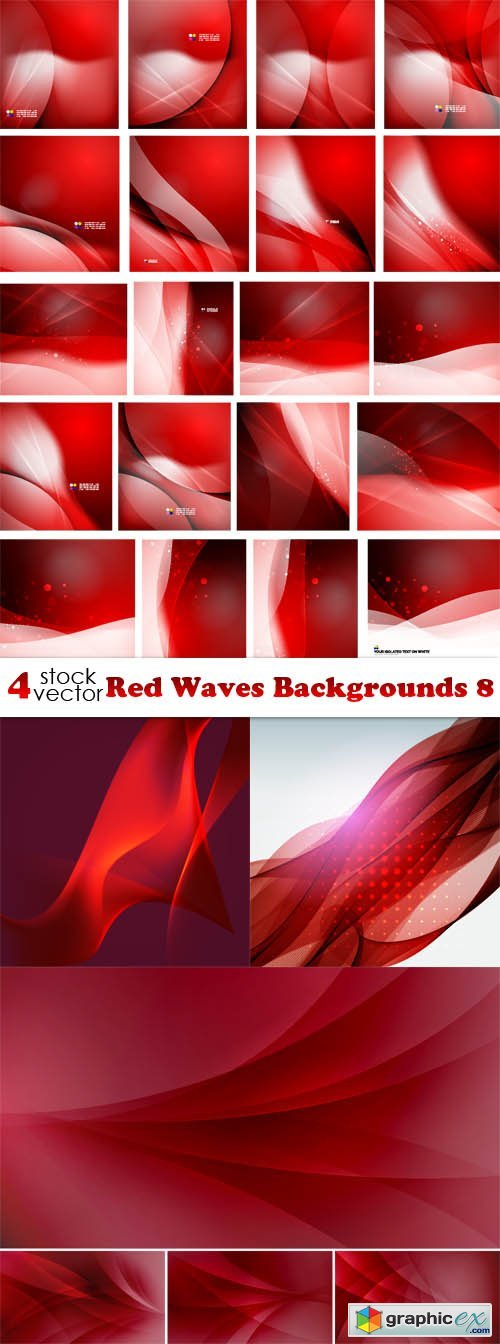 Red Waves Backgrounds 8