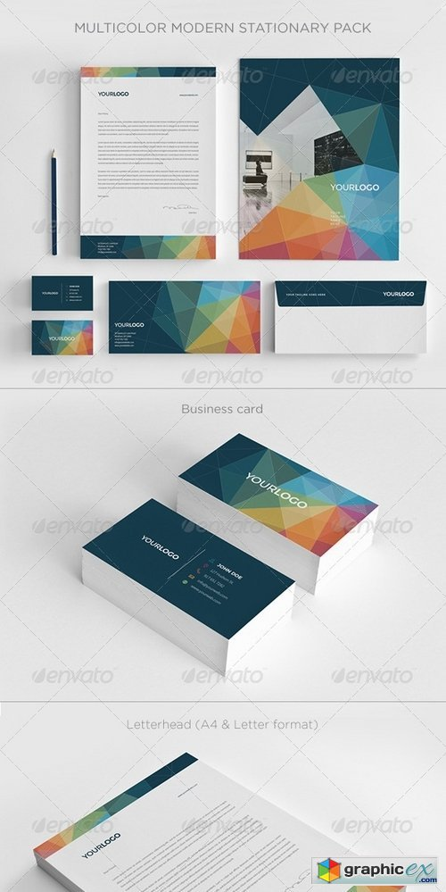 Multicolor Modern Stationery Pack 7281036 » Free Download