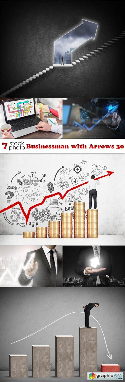 Businessman with Arrows 30