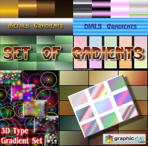 Gradient Set of 200 GRD Files for Photoshop