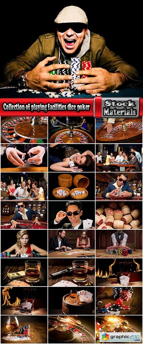 Collection of playing facilities dice poker cards roulette the winning bid 25 HQ Jpeg