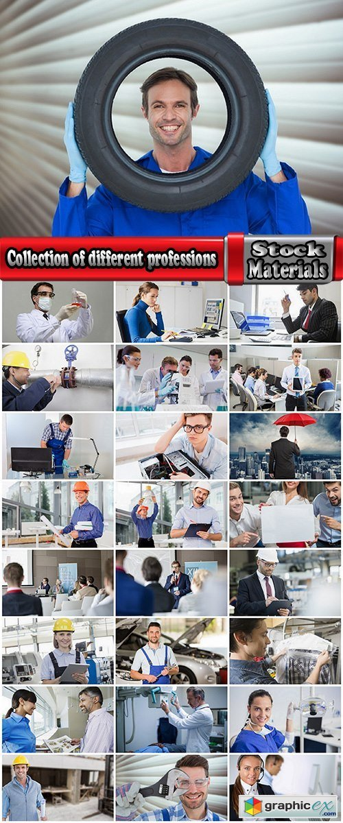 Collection of different professions architect accountant consultant engineer doctor 25 HQ Jpeg