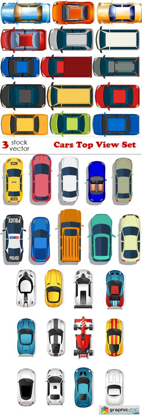Cars Top View Set