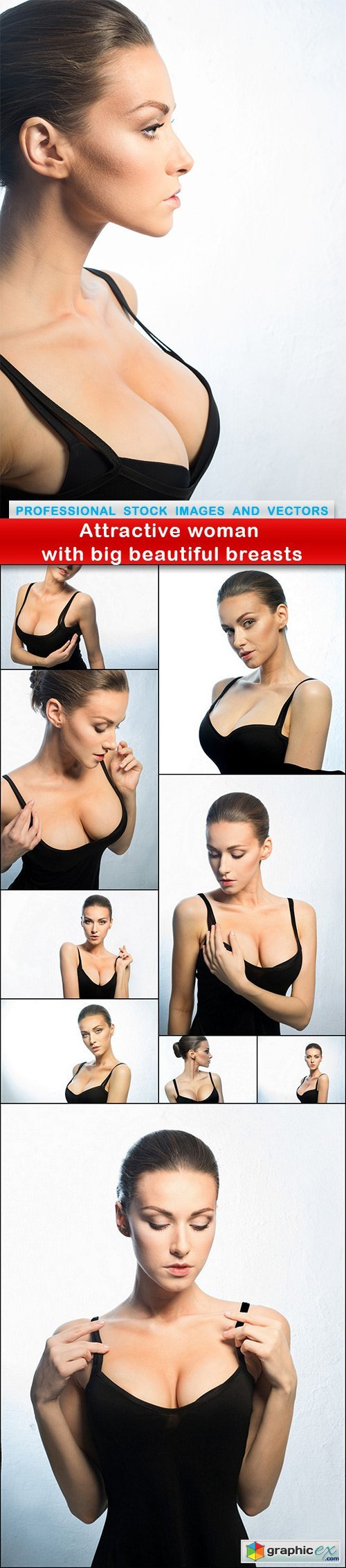 Attractive woman with big beautiful breasts - 10 UHQ JPEG
