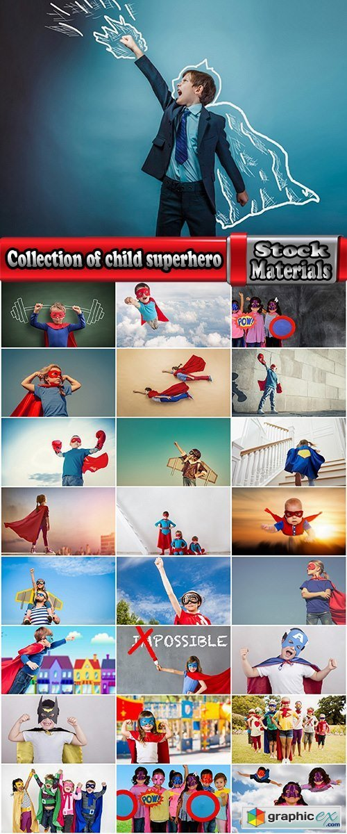 Collection of child superhero cape mask Superpower 25 HQ Jpeg