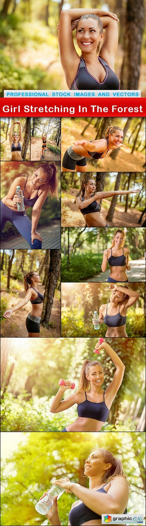Girl Stretching In The Forest - 11 UHQ JPEG
