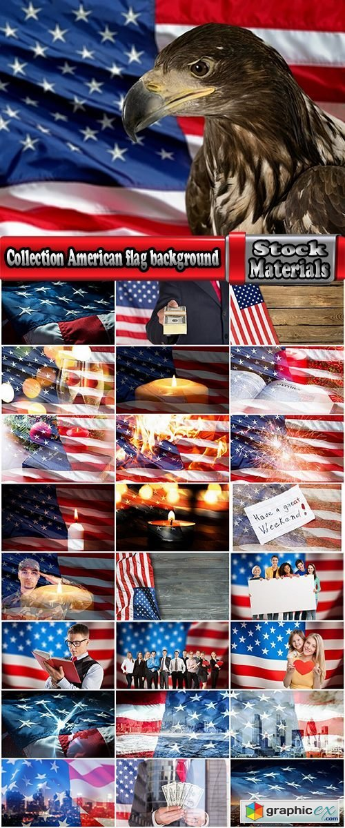 Collection American flag background is a holiday memorable date 25 HQ Jpeg