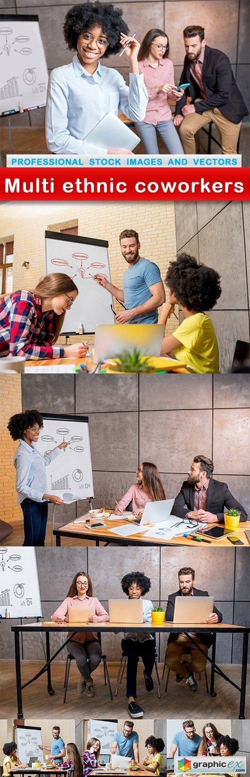 Multi ethnic coworkers - 7 UHQ JPEG