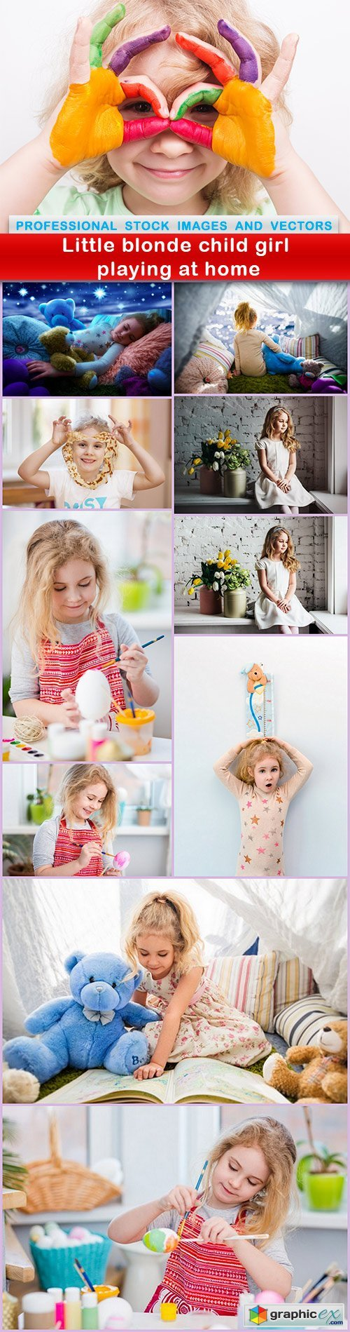 Little blonde child girl playing at home - 11 UHQ JPEG