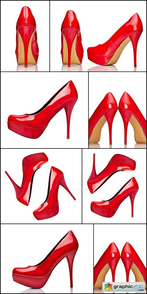 Red high heel shoes 8X JPEG