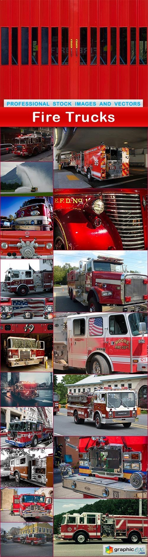 Fire Trucks - 20 UHQ JPEG