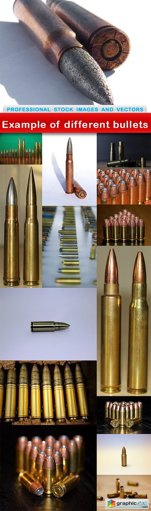 Example of different bullets - 15 UHQ JPEG