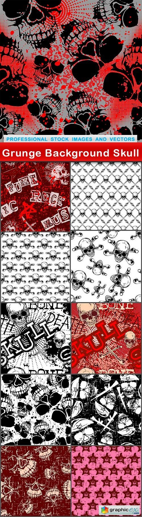 Grunge Background Skull - 11 EPS