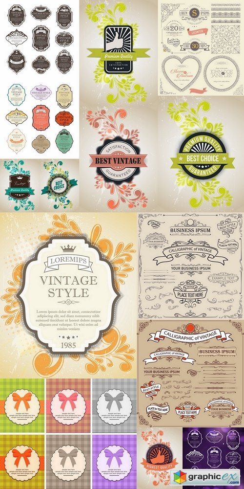 Vintage labels vector set free download vector stock image vintage labels vector set stopboris Image collections