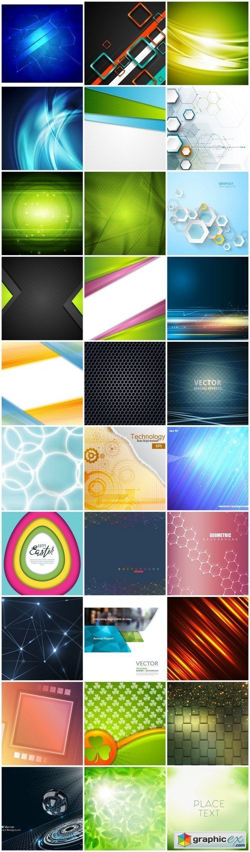 Abstract Background Collection #216 - 30 Vector