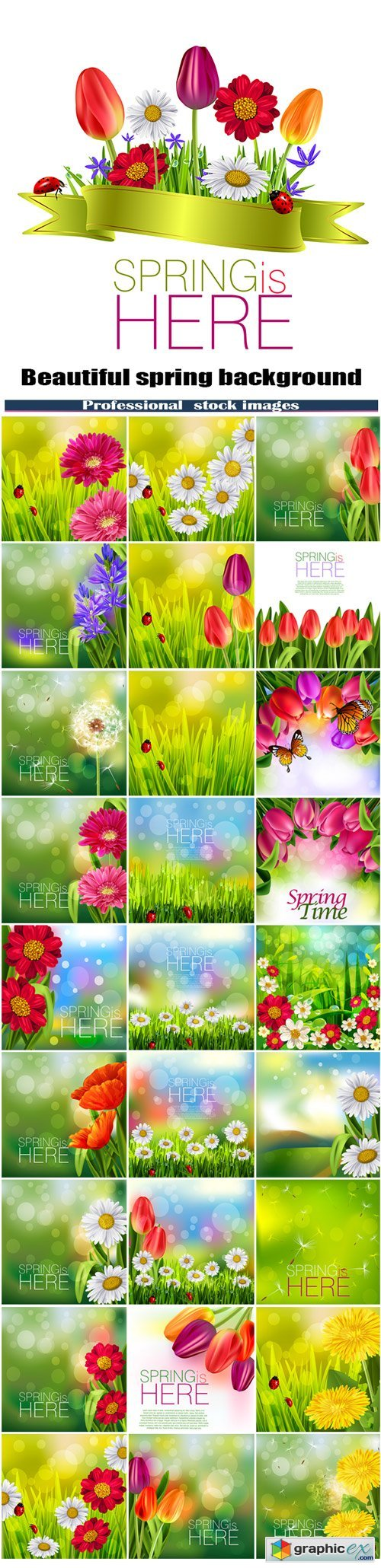 Beautiful spring background