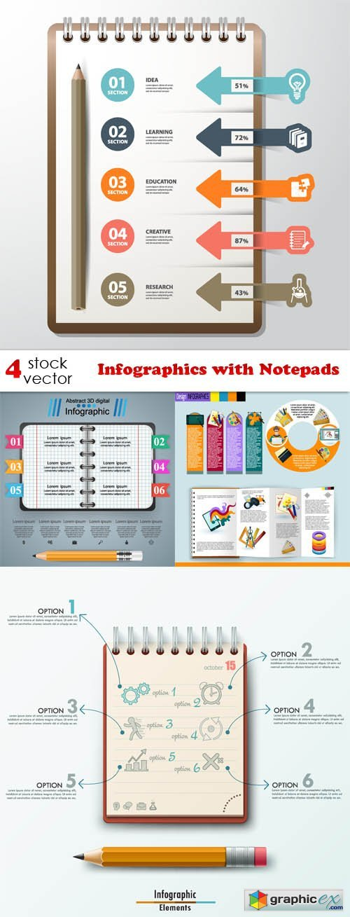 Infographics with Notepads