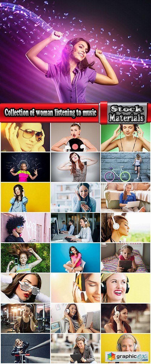 Collection of woman listening to music headphones amusement 25 HQ Jpeg